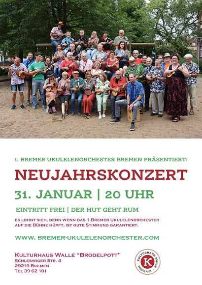 Plakat Neujahrskonzert 2018