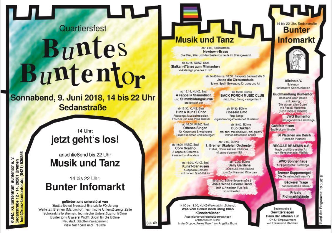 Flyer Buntentor-Quartiersfest 2018