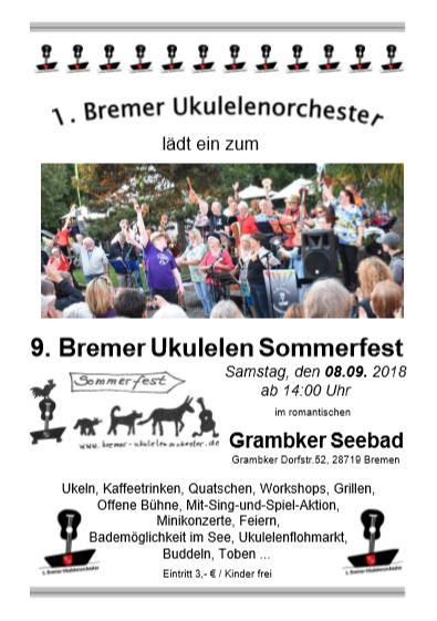 Plakat Sommerfest 2018