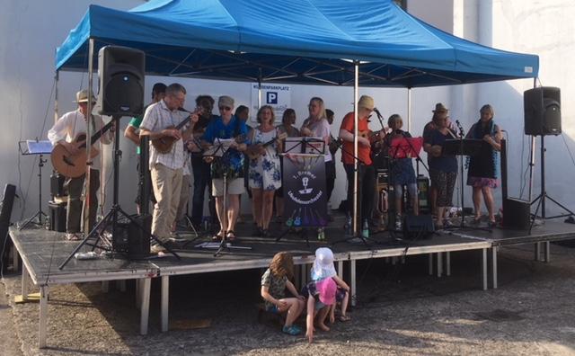 1. BUO auf der Bühne beim Quartiersfest Buntentor
