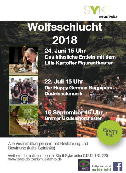 Plakat Syker Wolfsschlucht; 16.09.2018